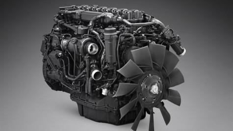 Motor Scania alimentat cu gaz pentru transporturi lungi