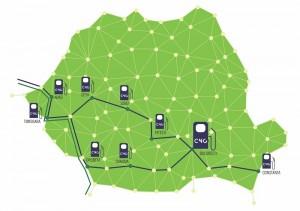 Harta Retea Statii CNG Romania