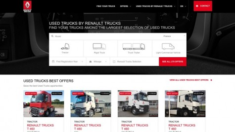 Renault Trucks vinde online camioane rulate