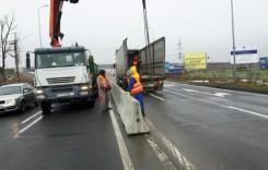 CNAIR continuă să monteze parapete pe drumurile naţionale