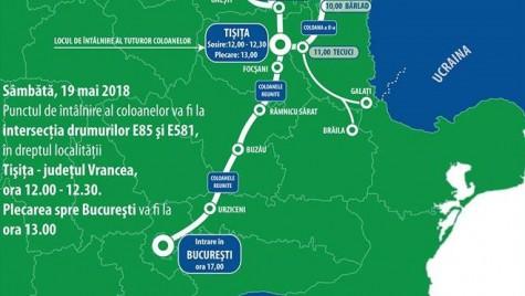 Marș motorizat spre București pentru dezvoltarea infrastructurii