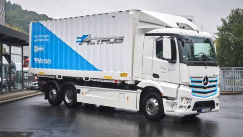 Hermes va testa primul Mercedes-Benz eActros
