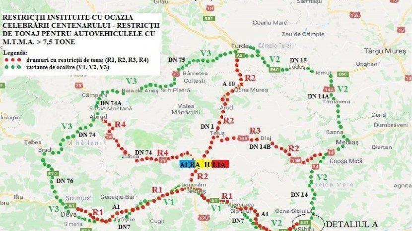 restricții de tonaj 1 decembrie 2018 Alba Iulia