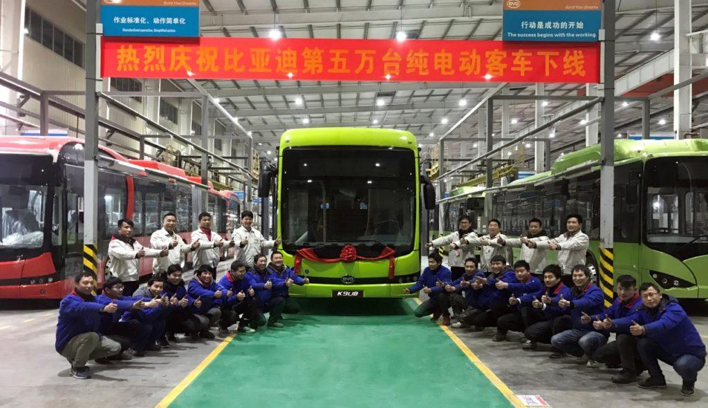 BYD 50.000 de autobuze electrice