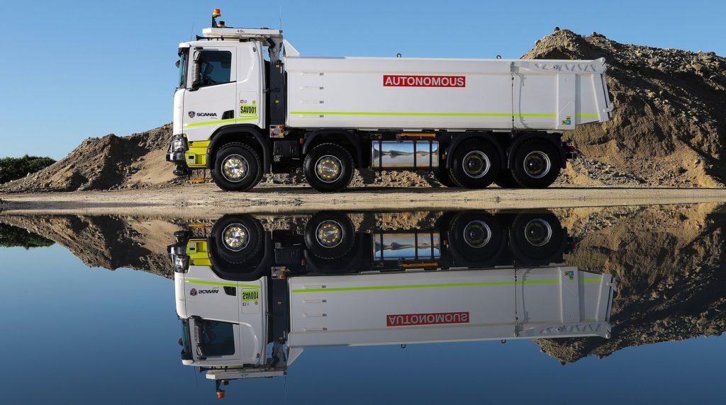 Camioane autonome Scania mina sare Australia