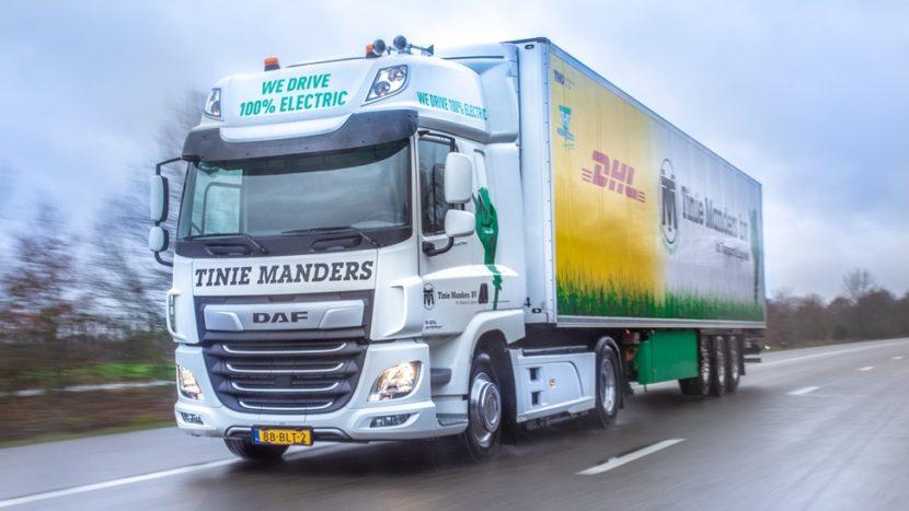 DAF CF Electric livrat Tinie Manders Transport