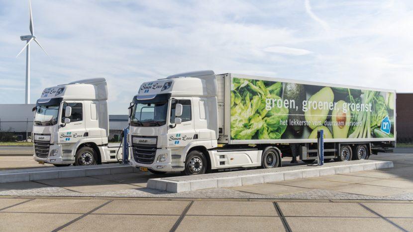 DAF Albert Heijn camioane plug-in hibrid si electrice