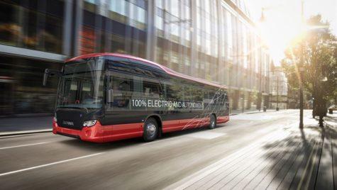 Scania va testa din 2020 autobuze electrice autonome