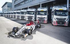 Iveco, partener logistic al echipei Alfa Romeo Racing