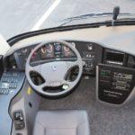 Test Scania Touring interior sofer