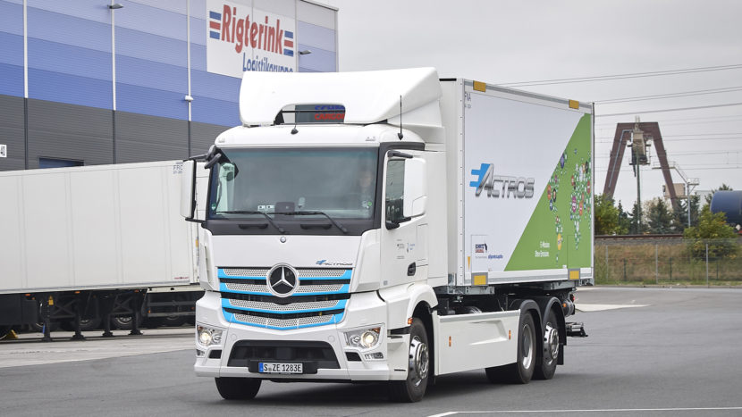 Camion electric eActros Rigterink Logistikgruppe