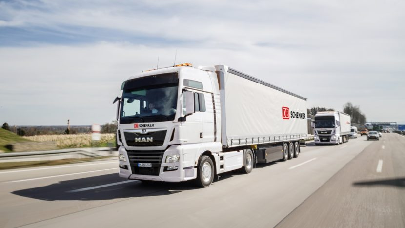 Studiu MAN DB Schenker plutoane de camioane