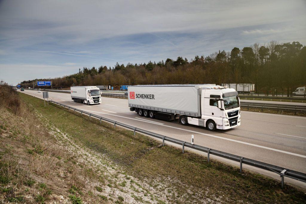 Studiu MAN Schenker plutoane de camioane