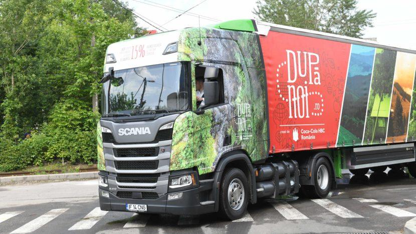 Camion Scania CNG pentru Coca-Cola HBC România