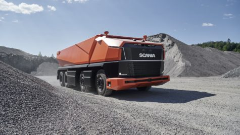 Scania AXL, concept de camion autonom fără cabină