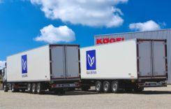 Semiremorci Kögel Cool pentru transport de delicatese