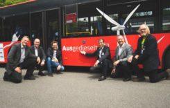 Autobuz diesel convertit în electric într-o săptămână