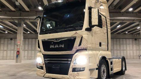 Design special pentru un camion MAN TGX