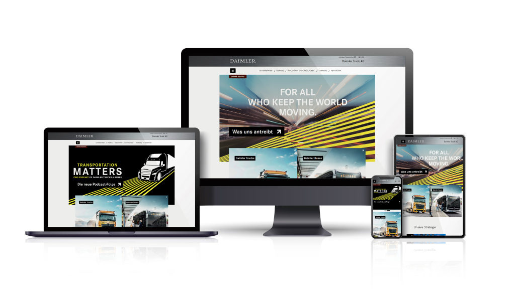 Daimler Truck AG își lansează noul website