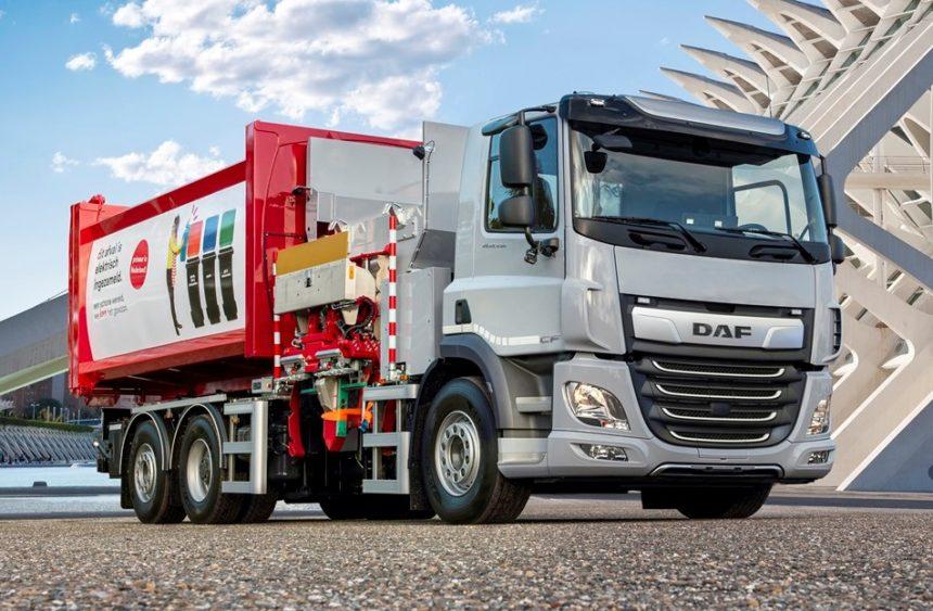 DAF CF Electric în configurație șasiu rigid 6x2