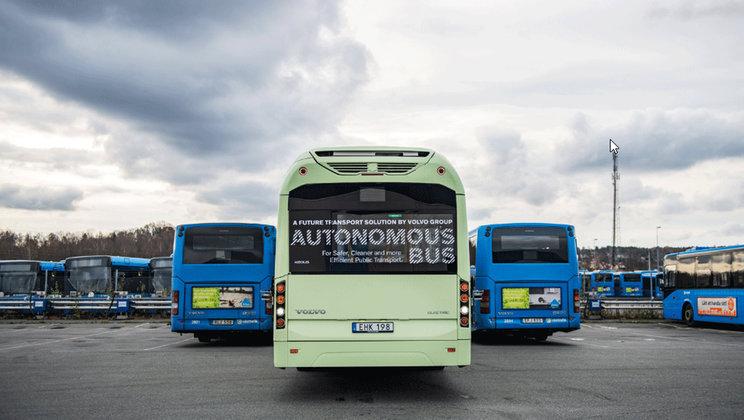 autobuz Volvo autonom depou
