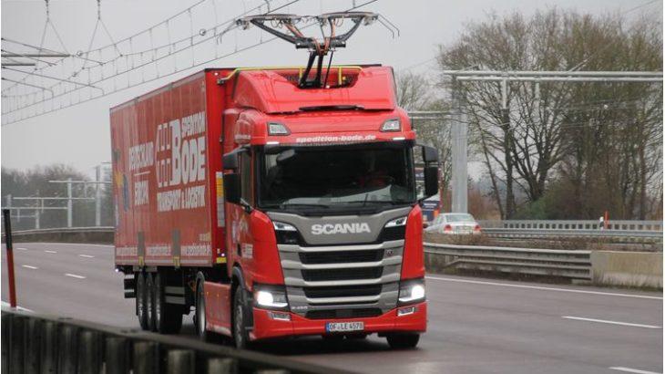 O nouă secțiune de autostradă electrificată în Germania