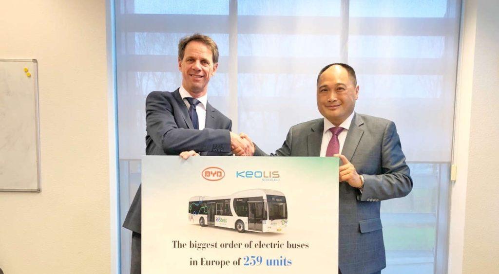 Cea mai mare comandă de autobuze electrice din Europa BYD Keolis Olanda