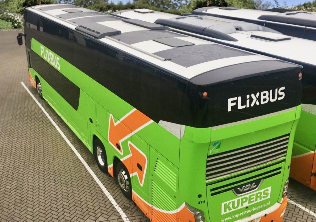 Autocar FlixBus panouri solare