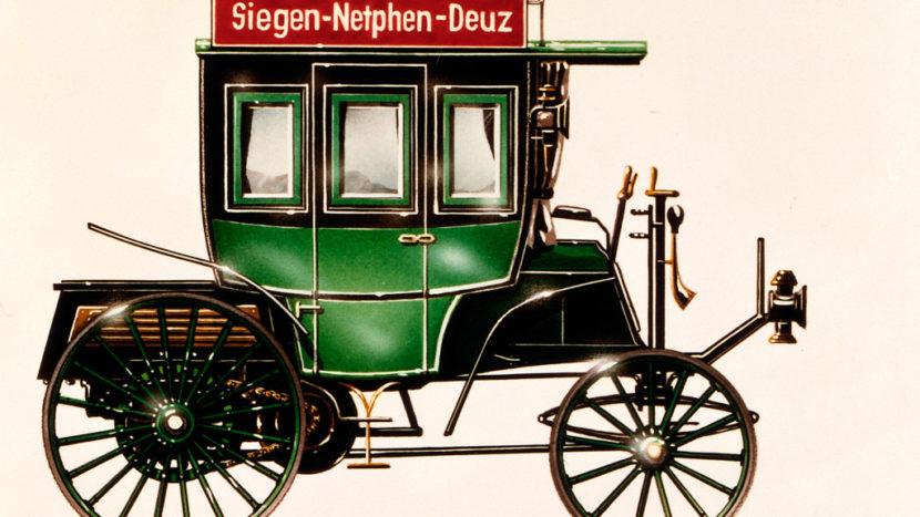 Primul autobuz cu motor cu combustie internă a împlinit 125 de ani Benz Omnibus