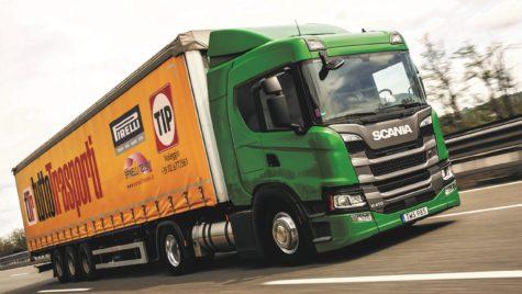Test Scania G 410 LNG:Putere verde