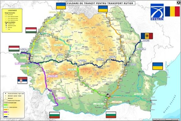 harta culoare verzi Romania