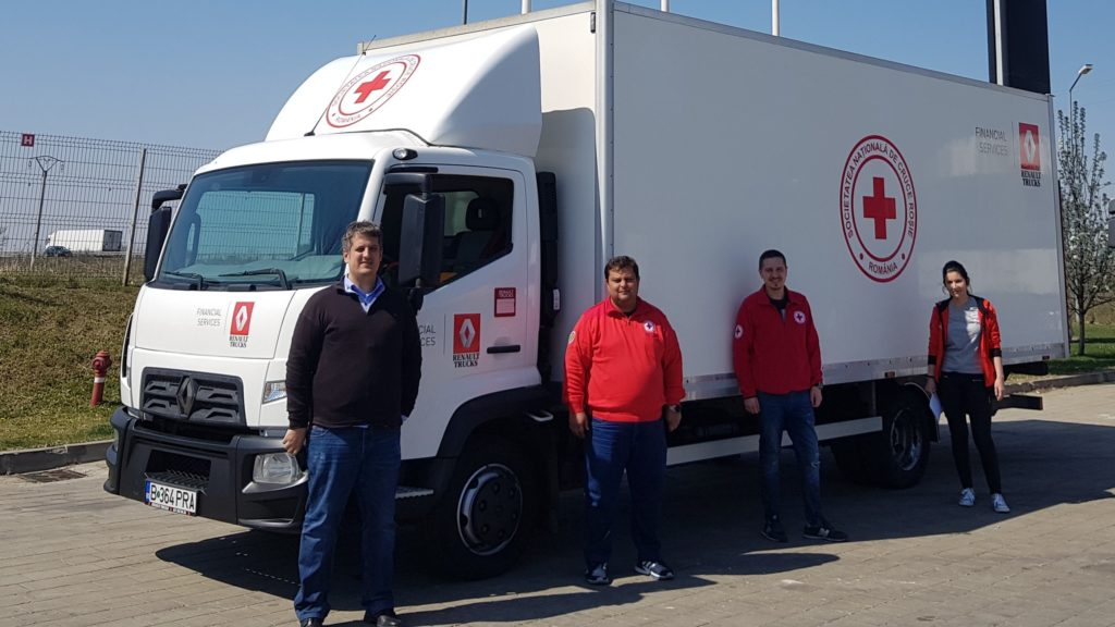 Renault Trucks, alături de Crucea Roșie