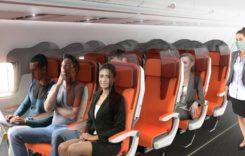 Cum ar putea arăta în curând scaunele avioanelor de linie