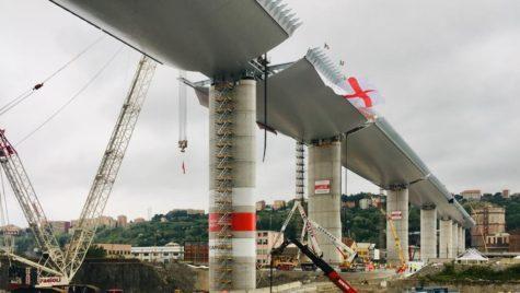 Noul pod din Genova: S-a terminat faza de construcție