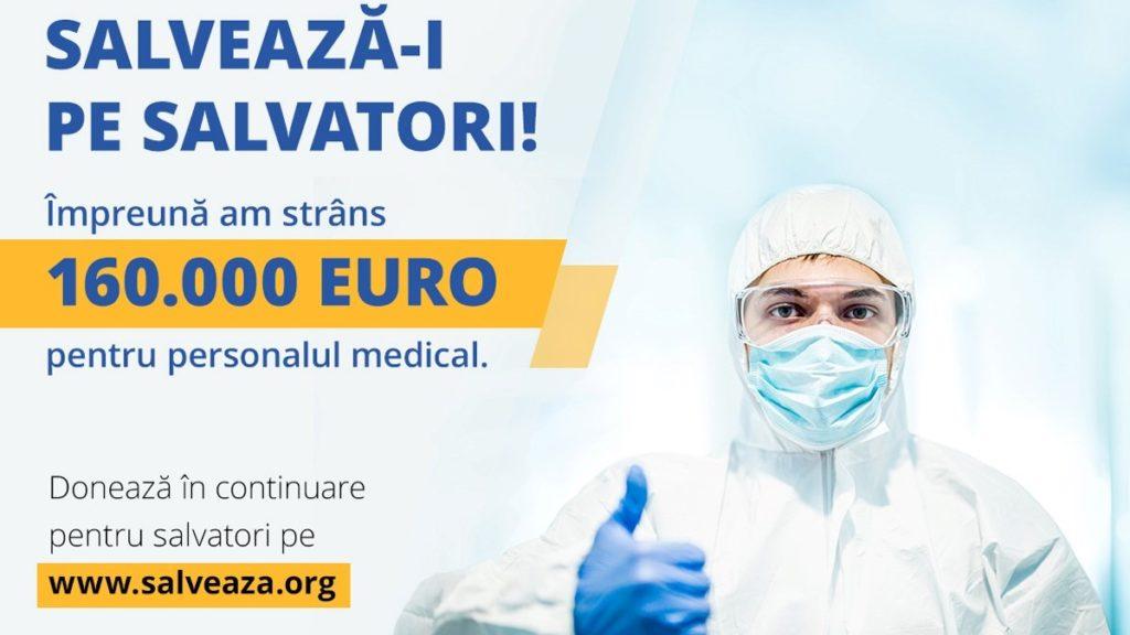 """Spitale ajutate prin campania """"Salvează-i pe salvatori"""""""
