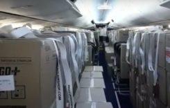 Primul zbor TAROM full cargo, cu un avion de pasageri convertit
