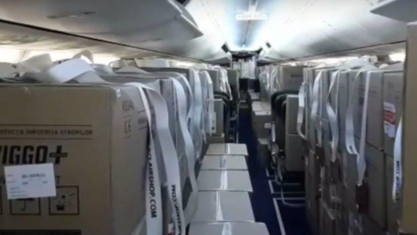 Primul zbor TAROM full cargo