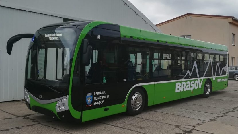 Primul autobuz electric SOR a ajuns la Brașov