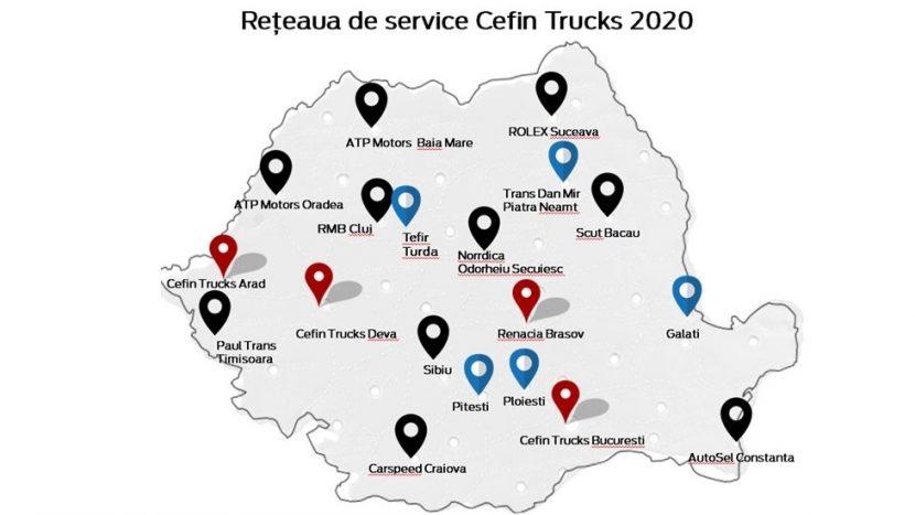 Cefin Trucks își extinde rețeaua de service și va repara și vehicule comerciale ușoare