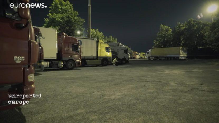 Reportaj Euronews: Șoferii de camion din est sunt exploatați