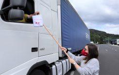 UTA oferă șoferilor de camion măști și dezinfectant în Austria
