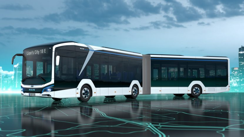 MAN lansează autobuzul electric articulat Lion's City 18 E
