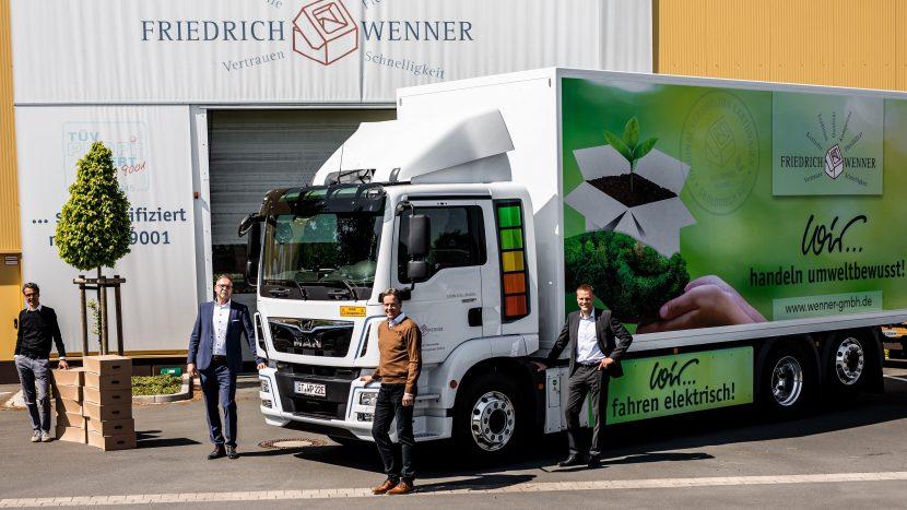 Camion electric MAN eTGM pentru Friedrich Wenner GmbH
