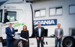 Contargo va testa un camion hibrid Scania cu pantograf