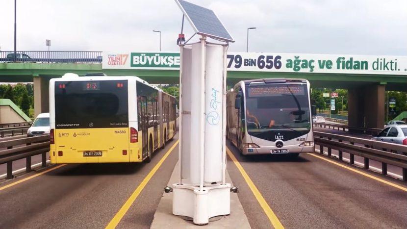 Energie eoliană produsă de autobuze (video)