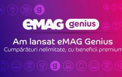 eMAG Genius, serviciu premium cu livrare rapidă gratuită, inclusiv duminica