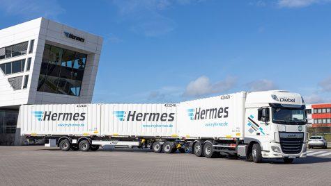 Hermes testează un camion lung în Germania