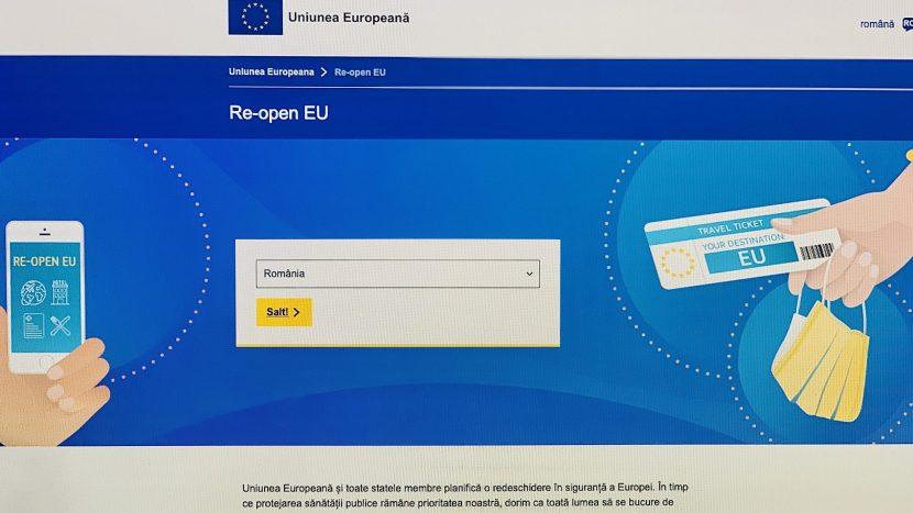 Re-open EU: Site dedicat reluării în siguranță a călătoriilor și a turismului în UE