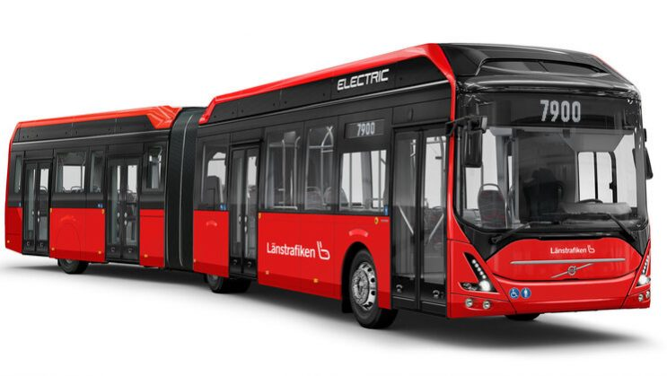 Volvo va livra 49 de autobuze articulate electrice