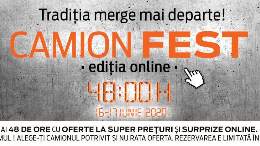 Camion Fest se reinventează: prima ediție exclusiv online